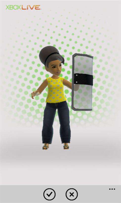 DEG: Med Xbox Live på Windows Phone 7 får du blant annet avataren din inn i telefonen.