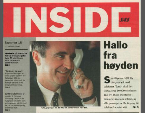 Her ser du en faksimile fra SAS internavis i oktober 1995. Foto: SAS