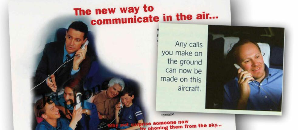 GAMMELT NYTT: Fra 1995 til 2007 kunne du ringe om bord i SAS-fly. Nå er snart tjenesten tilbake, men helt lik blir den nok ikke. Foto: SAS