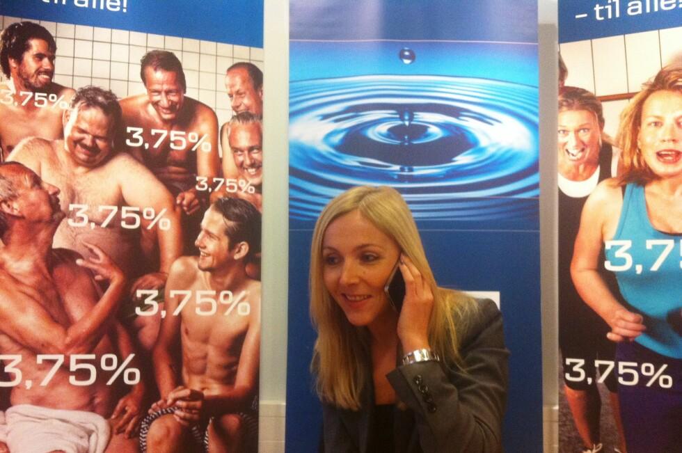 Fokus Bank, med Monica Haftorn Iversen i spissen, går nå ut med nyheten om lik rente til alle. Foto: Fokus Bank