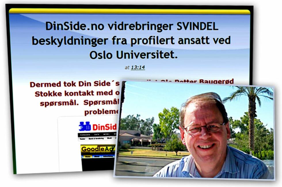SVARER: Goodle-sjef Helge Normann er opprørt over saken i DinSide, og ønsker å svare på kritikken. Det gjør han  blant annet på sin egen nyhetsside GoodleNews.com. Foto: Ole Petter Baugerød Stokke/GoodleNewz.com/HelgeNormann.net