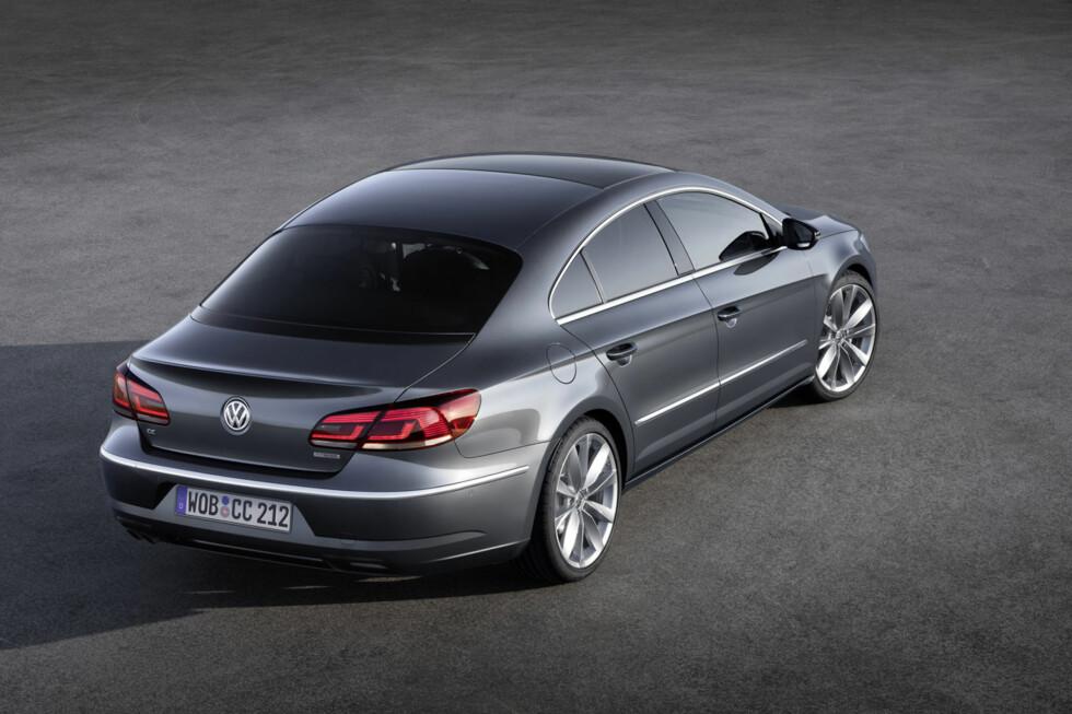 Sedan med kupé-fasong: Det hersker stor enighet om at Volkswagen CC har en meget vellykket design. Foto: Volkswagen