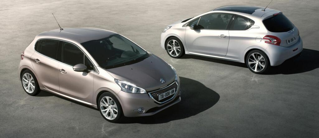 Peugeot 208 kommer både med tre og fem dører Foto: Peugeot