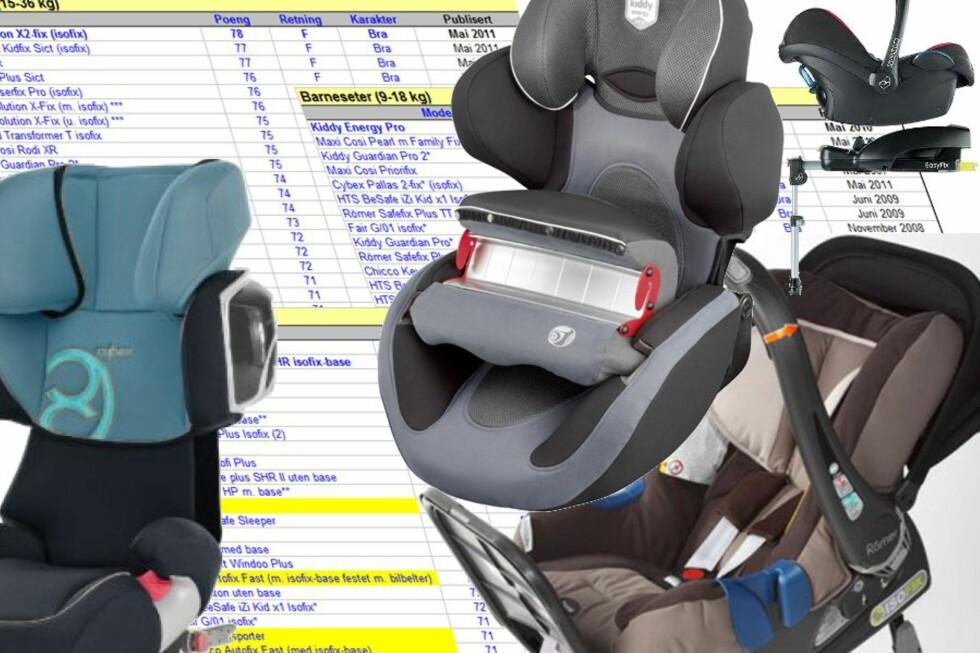 <strong><b>BILSTOLER:</strong></b> Se hvilken bilstol du bør velge, og hvilke du bør styre unna. Foto: Kristin Sørdal