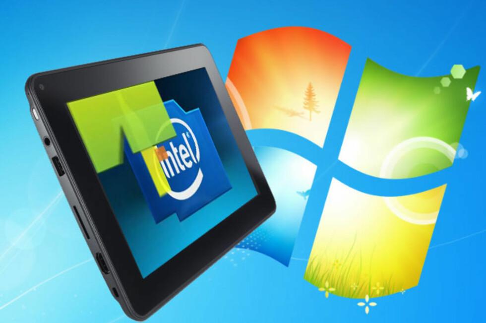 Dell Latitude ST benytter Intel Atom-prosessor og kjører Windows 7. Foto: Montasje, DinSide.no