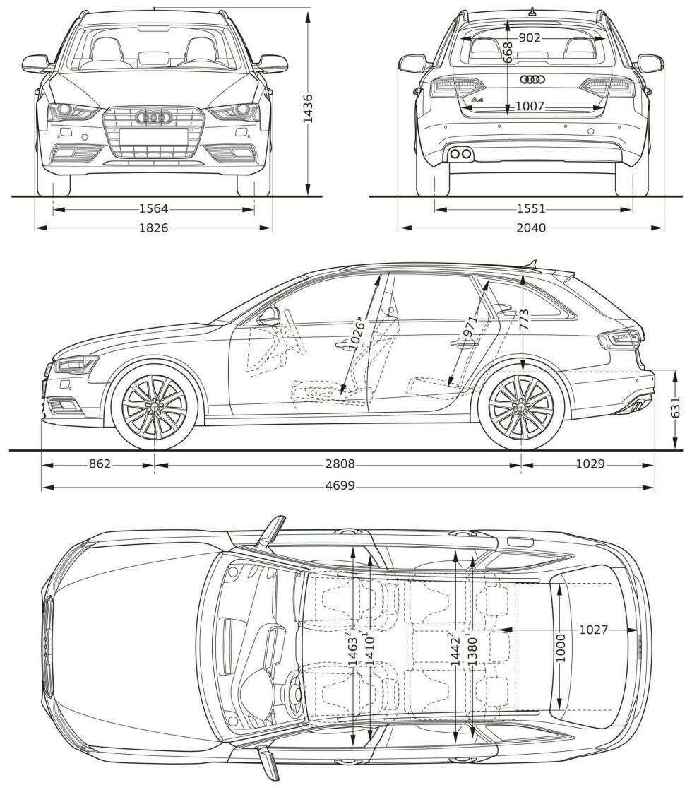 Audi A4 beholder sine dimensjoner. Her stasjonsvognen Avant. Foto: Audi