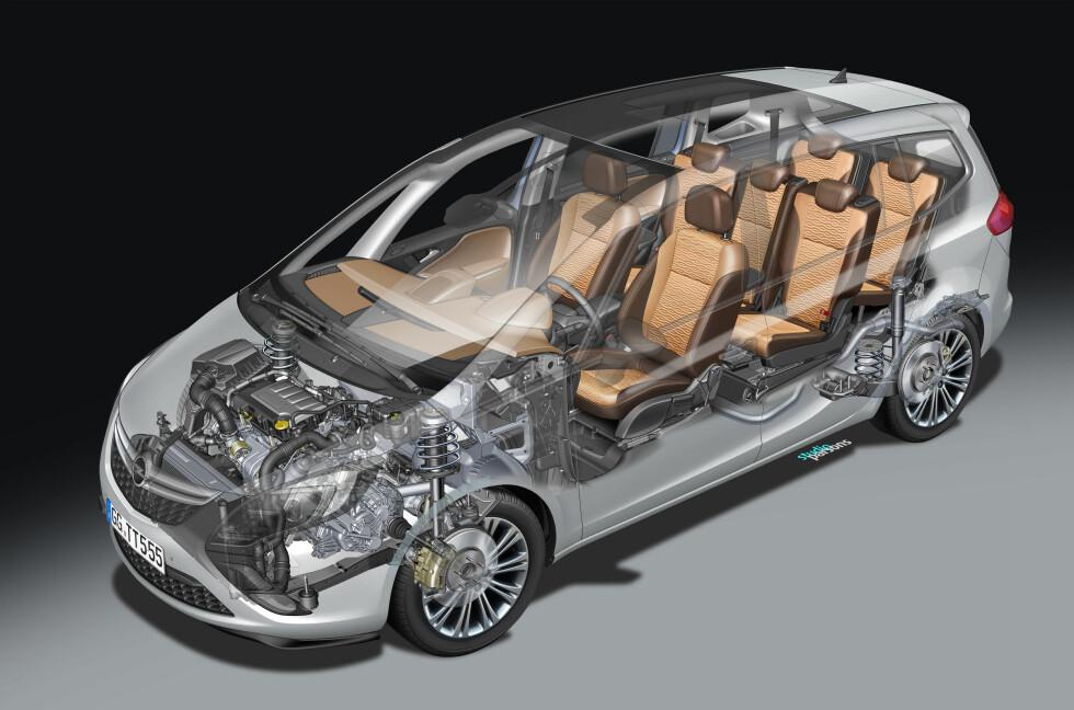 Med 7 seter og bedre plass er Zafira et klart alternativ i klassen for kompakte flerbruksbiler.