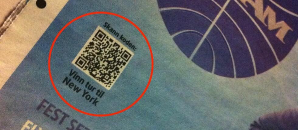 Slike QR-strekkoder krever en mobiltelefon og en egnet leser.