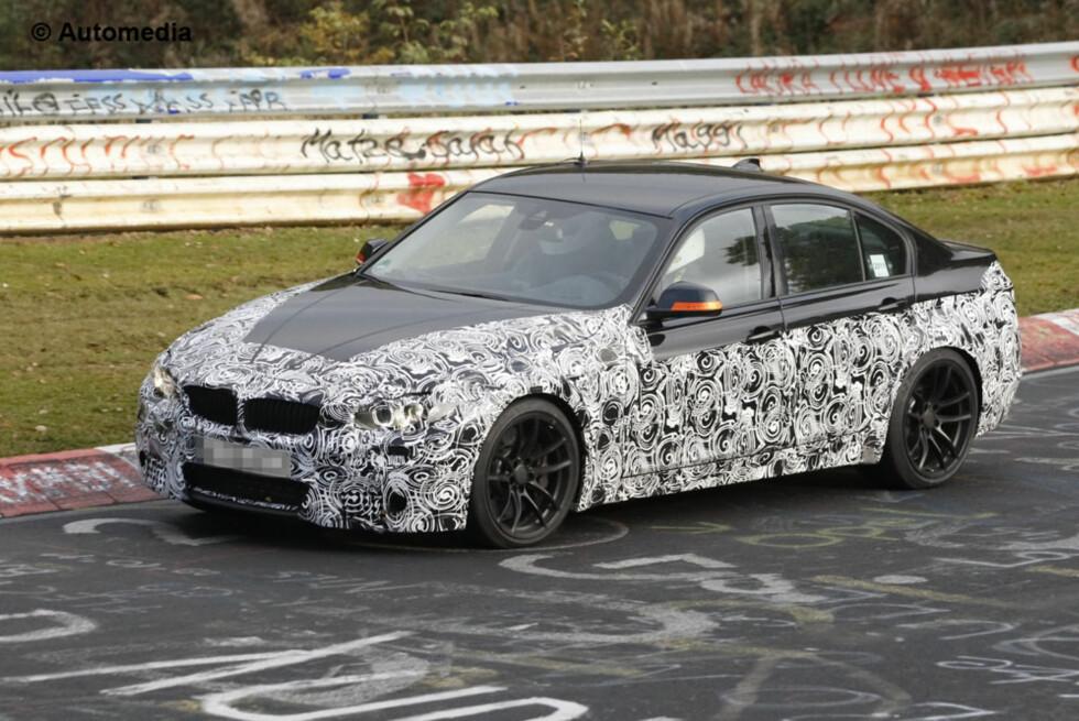 Dette er den helt nye BMW M3, basert på 3-serien som ble presentert for bare kort tid siden. Foto: Automedia