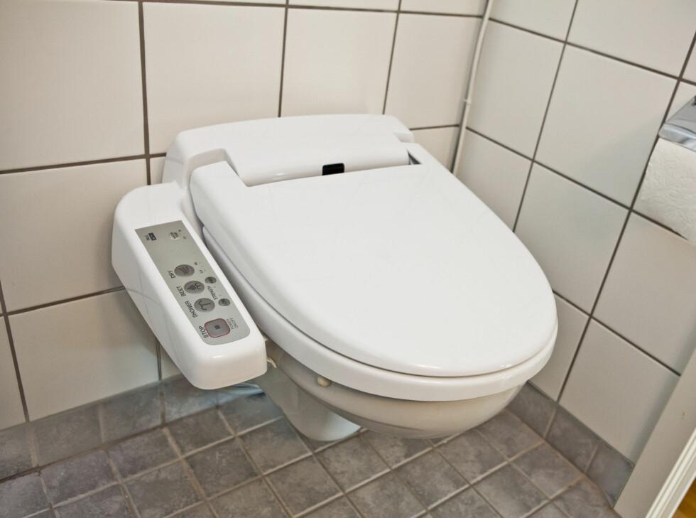 Japansk-inspirert toalett med vask og føn. Foto: Per Ervland