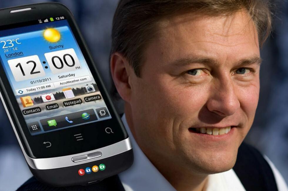 <strong>VOLLVIKS P9S:</strong> Idar Vollvik i Ludo Mobil lanserer nå sin egen P9S. Den er designet i Norge, og lages i Asia.  Foto: Ludo/Ole Petter Baugerød Stokke