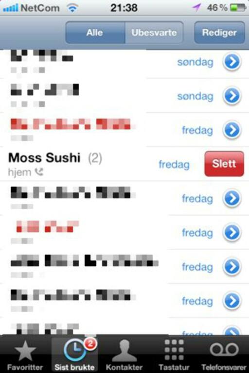 Sushi? Nei, jeg har ikke bestilt sushi!?