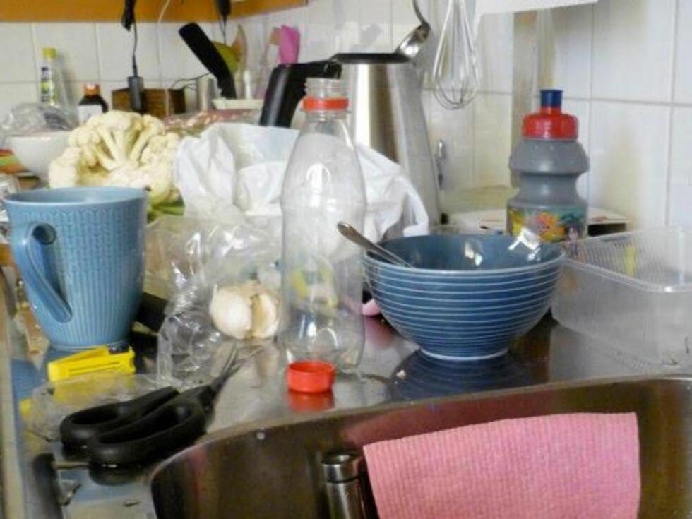 En praktisk förvaring av kökets vardagsprylarTrasa från Wettex, liknande finns hos Konsum Foto: Moa Söderhielm