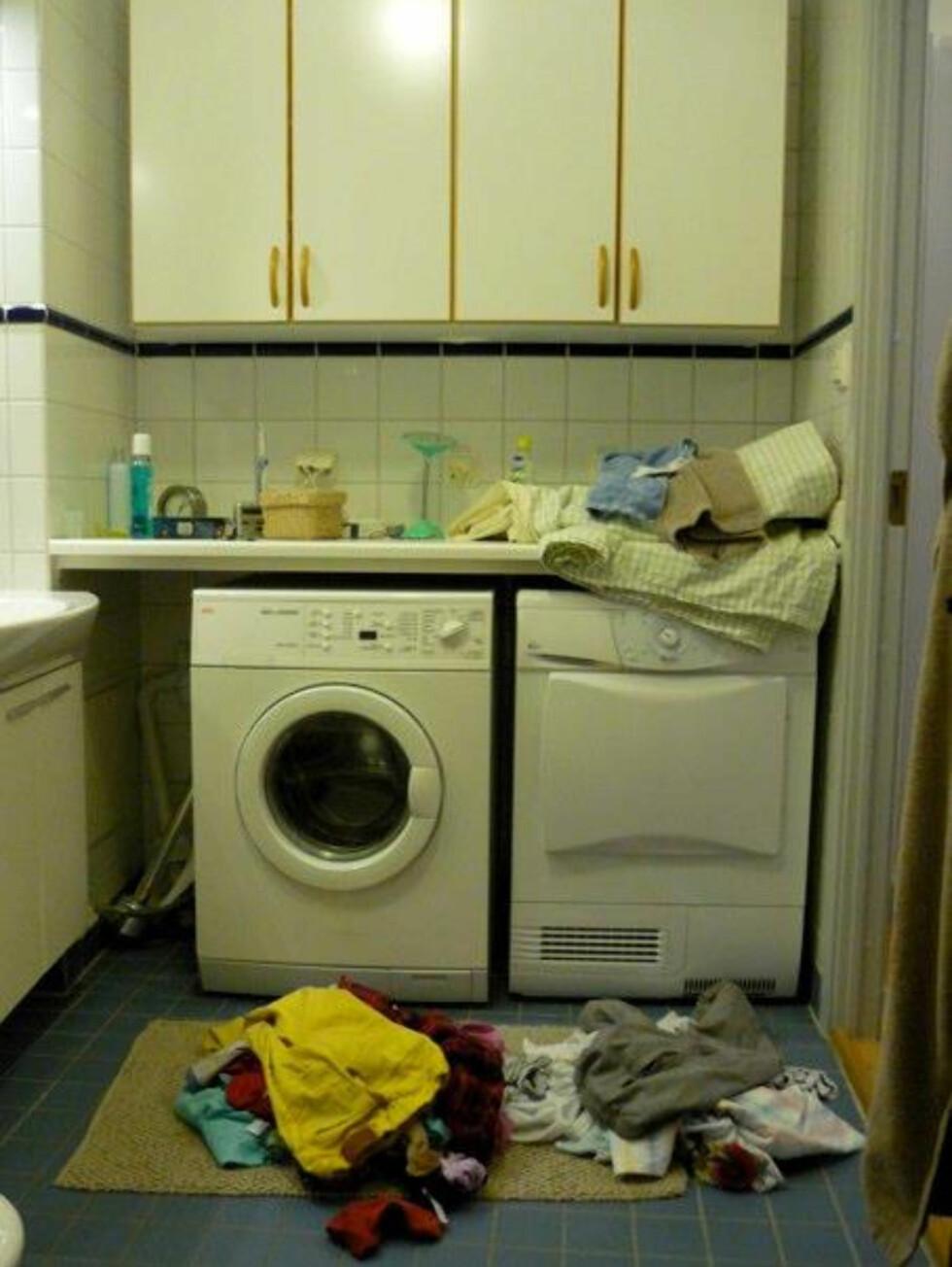 Ett enkelt och intuitivt system för tvätten: smutsigt på golvet och rent på bänkenTvättmaskin ÖKO-Lavamat från AEG Foto: Moa Söderhielm