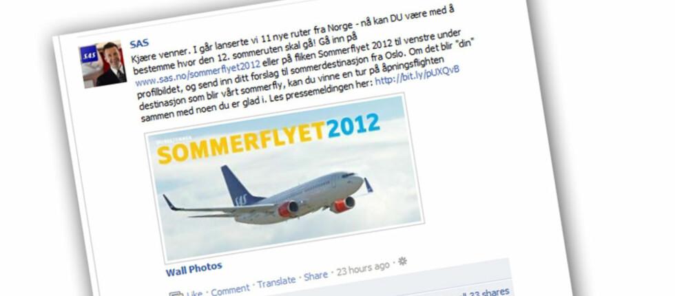 Hva blir SAS' 12. sommerrute fra Norge? Du bestemmer!