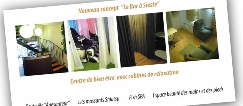 ZZZOV ZZZØTT: ZZZ Zen - Le Bar à Sieste heter den nye sovebaren i Paris. Foto: http://www.barasieste.com/