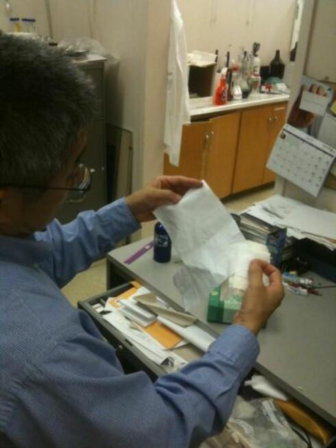 SLIK SER DEN UT: Doktorgradsstudenter ved UC Davis-universitet i California, USA, har tatt bomullen et steg eller to videre. Foto: UC Davis