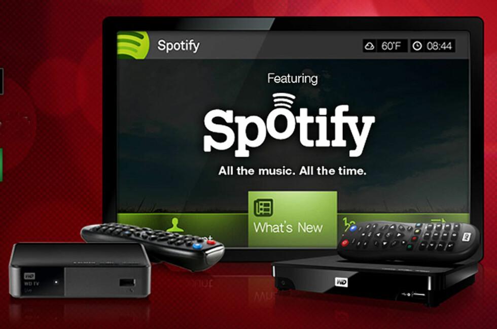 WDTV Live blir første mediespiller med Spotify-integrasjon. Foto: Western Digital