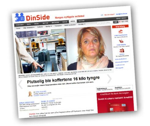 I september skrev DinSide om Merete Ørsal, som måtte betale 128 euro for bagasje overvekt som hun ikke hadde. Foto: Faksimile