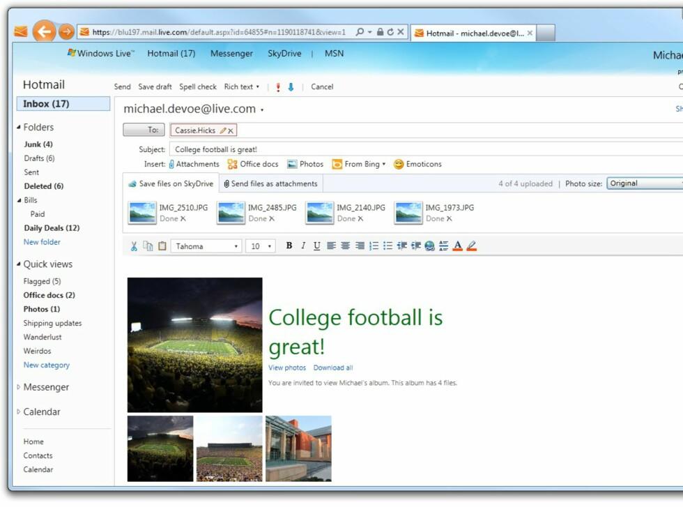 Det blir vanskeligere og vanskeligere å skille Hotmail fra Outlook Web Access.