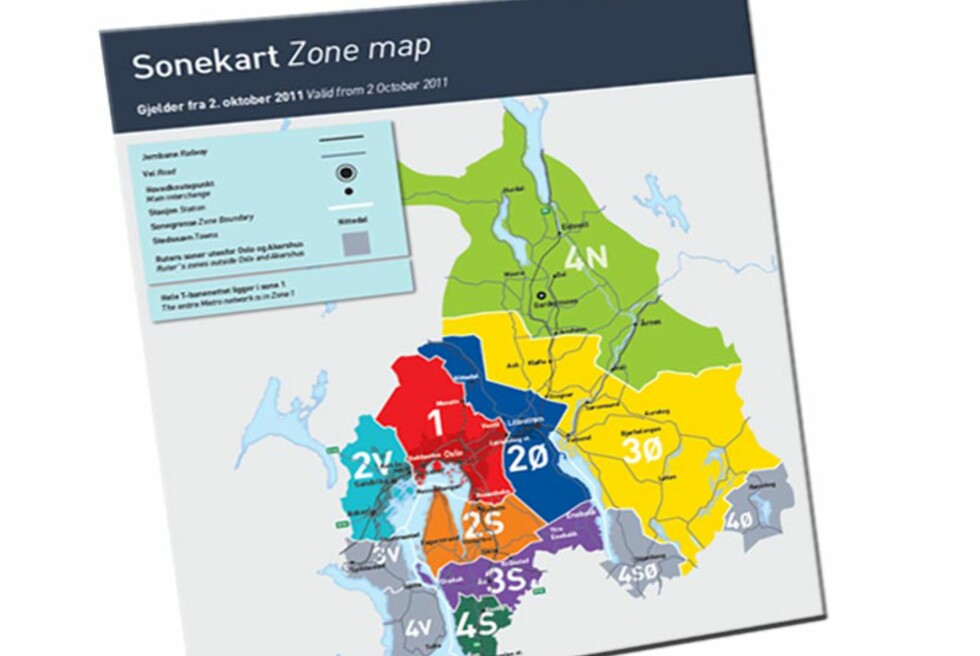 Nytt sonekart og nye priser på billettene i Oslo og Akershus fra og med 2. oktober. Foto: Ruter