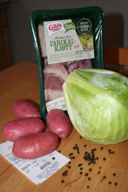 Du trenger ikke mange ingrediensene for å lage fårikål. Foto: Berit B. Njarga