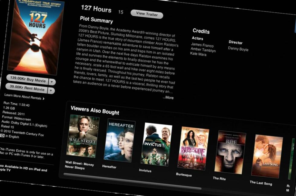 ENDELIG: Nå er det mulig for nordmenn å leie film via iTunes.