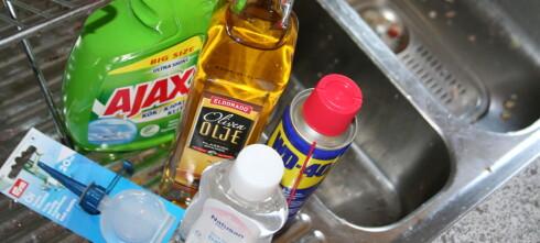 Renest vask med kjøkkenspray