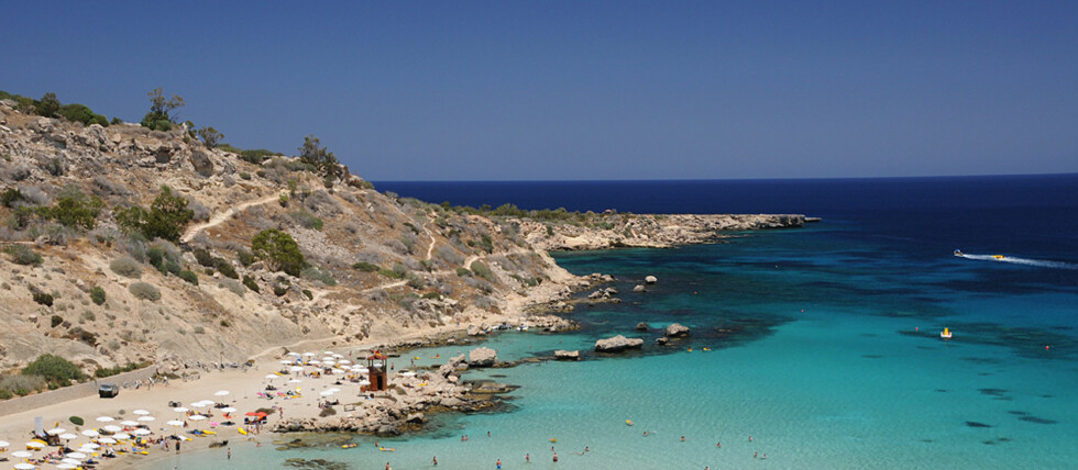 Konnos er den fineste stranden rundt Protaras og Ayia Napa. Foto: Hans Kristian Krogh-Hanssen