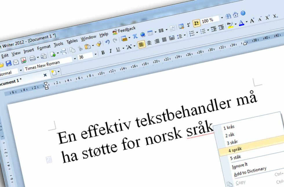 Kingsoft Office er til forveksling lik Microsoft Office 2003. Med norsk stavekontroll installert, øker nytten betraktelig.