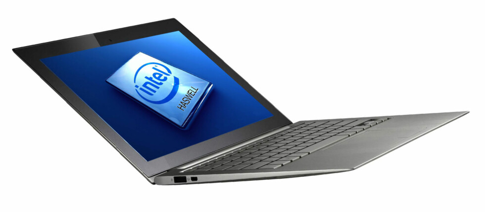 """Intel spår at 40% av alle PC-er som selges om to år vil være syltynne og lette """"ultrabooks"""". Enkelte vil ha batterilevetid på inntil 24 timer, og kunne være tilkoblet nettet i 10 dager uten å måtte være plugget i veggen. Foto: Illustrasjon, DinSide.no"""