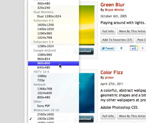 På InterfaceLIFT kan du laste ned varianter av bildene tilpasset din skjermoppløsning.
