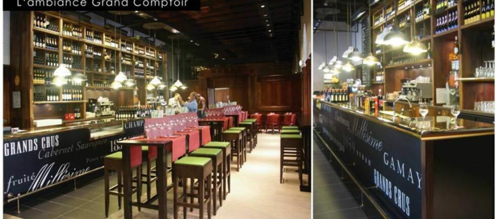 «Le Grand Comptoir» har tidligere blitt kåret som verdens beste bar og restaurant på flyplass. Nå kommer den til OSL i slutten av desember 2011.  Foto: SSP The Food Travel Experts