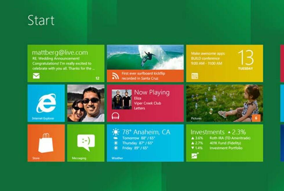Windows 8 omtales som den største oppgraderingen av operativsystemet siden Windows 95. Foto: Microsoft