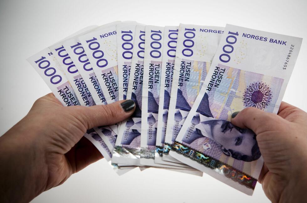 LØNNSVEKST: SSB tror på stigning i reallønna de neste årene. Foto: PER ERVLAND