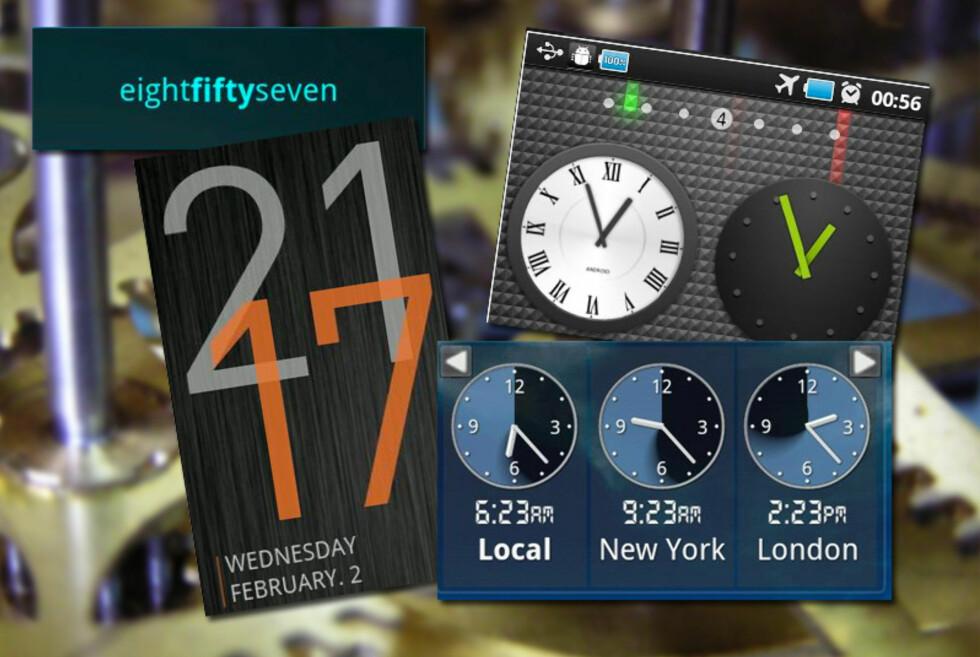 Android-klokker finnes i mange, mange varianter.