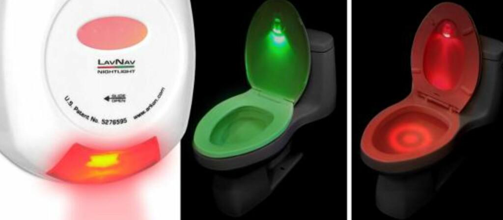 Rødt lys betyr at ringen er oppe, og jaggu ser det ikke ut til at det ved hjelp av markeringer i vannet også bør bli lettere å sikte. Grønt lys betyr at ringen er nede.  Foto: Produsenten