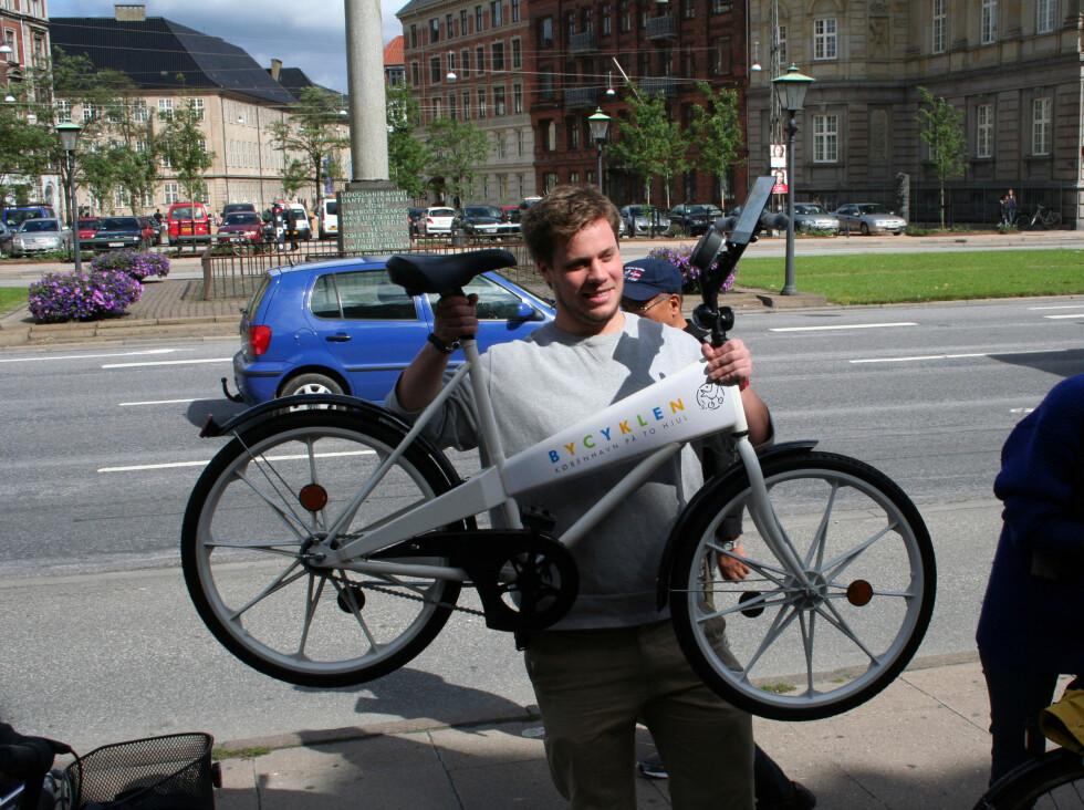 Her ser du Bycyklen, som er gratis. Foto: Silje Ulveseth