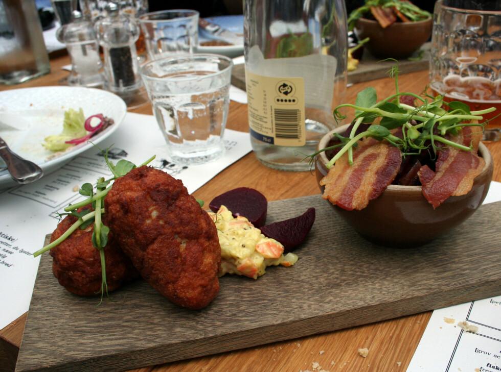 Frikadeller med leverpostei og bacon.  Foto: Silje Ulveseth