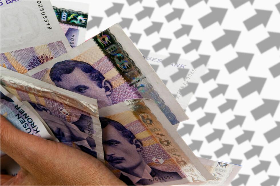 Ekstra penger? For de fleste vil det lønne seg å betale ned gjeld, men ikke for alle. Foto: Per Ervland/Kim Jansson
