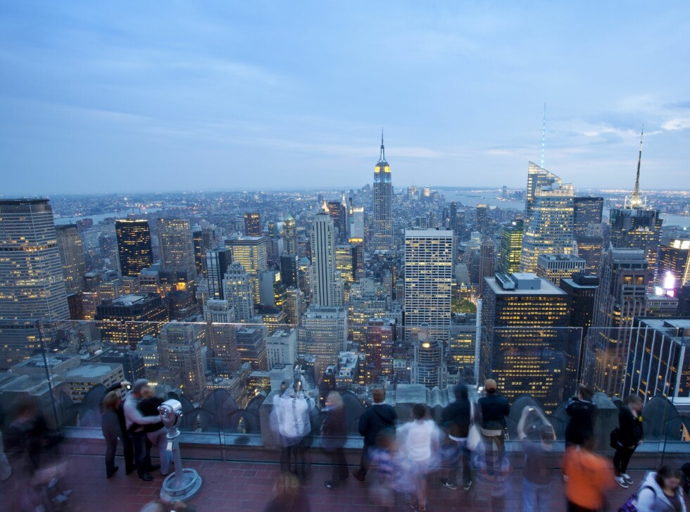 Utsikten mot Empire State Building fra Rockefeller Center er heller ikke å forakte. Disse to byggene er blant de fremste turistattraksjonene i New York.  Foto: Colourbox.com