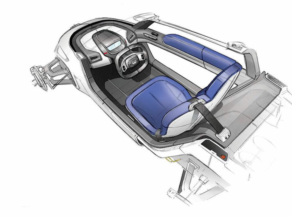 VW og Audi har valgt to forskjellige konfigurasjoner. Ett eller to seter.