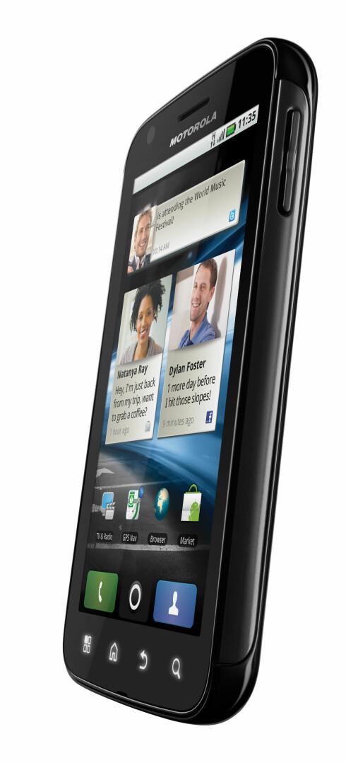 RASK: Uten docking ser telefonen ut som hvilken som helst annen telefon. En hvilken som helst rask telefon.  Foto: Motorola