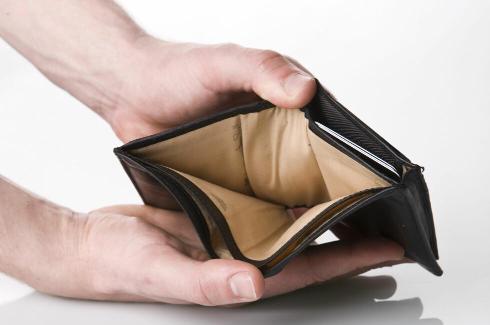 TOMT? Ikke la deg friste unødvendig av forbrukslån, som er veldig dyr gjeld. Foto: Colourbox.com