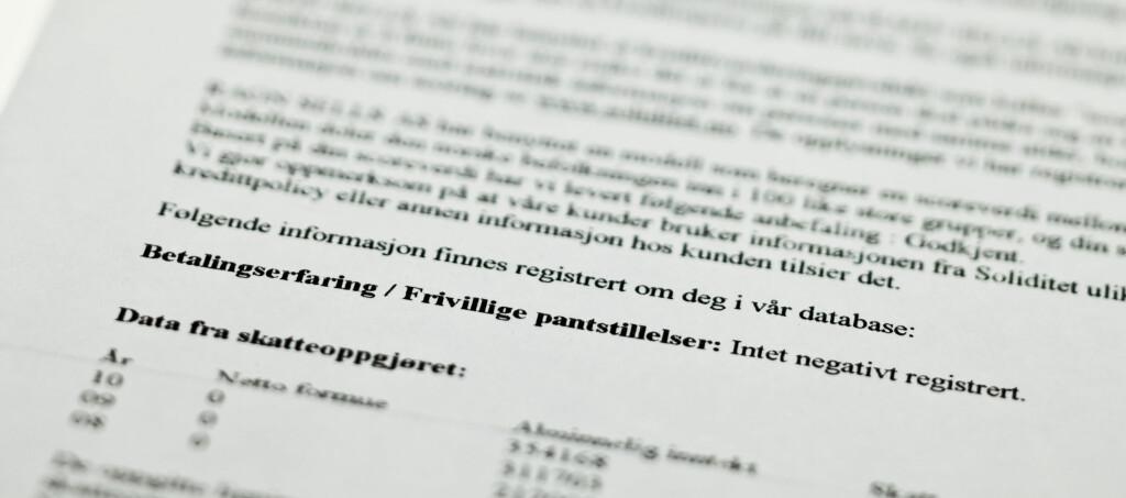 <b>KREDITTVURDERING:</b> Ifølge Datatilsynet, klager mange på at de er kredittvurdert uten gyldig grunn. Foto: Per Ervland