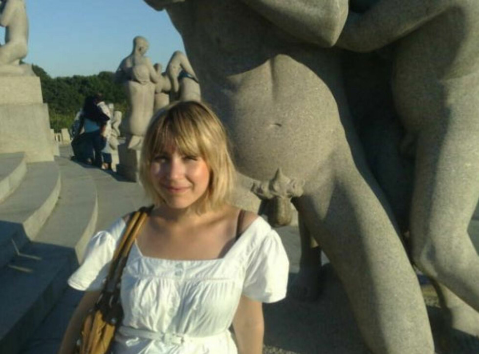 Meg som turist i Vigelandsparken for noen år siden.  Foto: Privat
