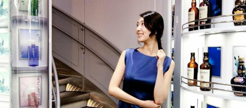 Ifølge Korean Air har de verdens første og eneste Taxfree-utstillingsvindu. Foto: Korean Air