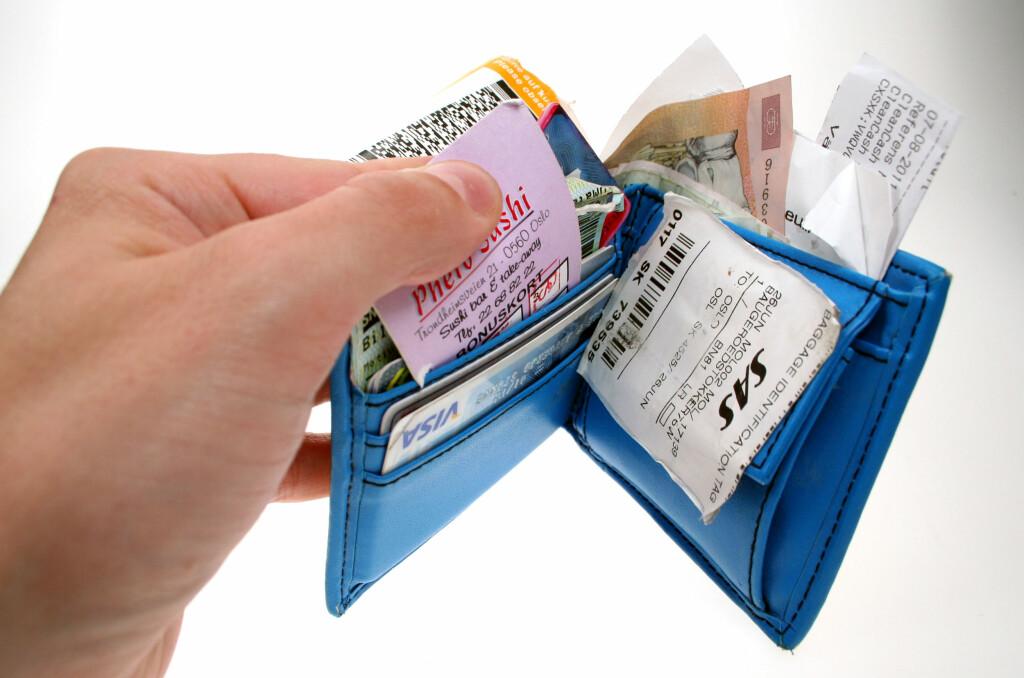 DYRT: Å ha en slik lommebok, som en viss DinSide-journalist visstnok muligens har, kan være en dårlig idé.  Foto: Ole Petter Baugerød Stokke