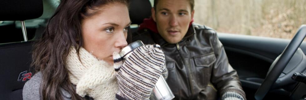 <strong><b>DEN MEST IRRITERENDE PASSASJEREN:</strong></b> Partneren er den passasjeren flest sjåfører irriterer seg over, og ferien er den tiden på året vi irriterer oss mest. Foto: Colourbox.com