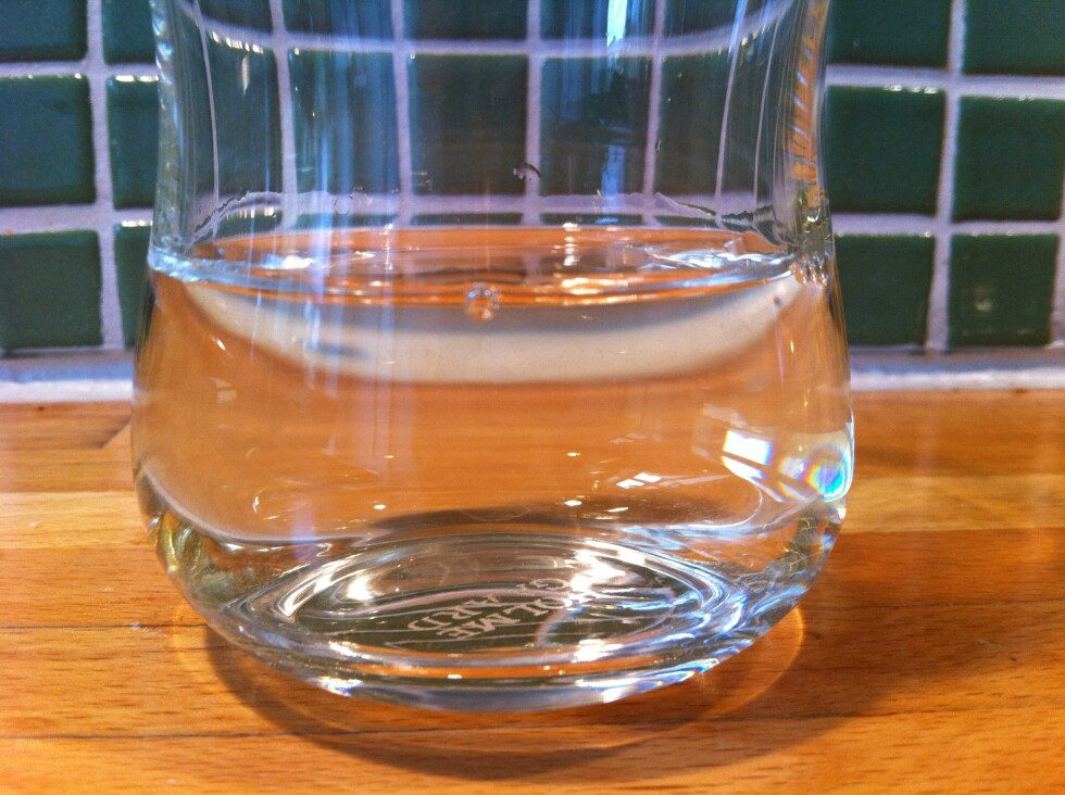 Glasset med bare vin tiltrakk seg ingen fluer. Foto: Elisabeth Dalseg